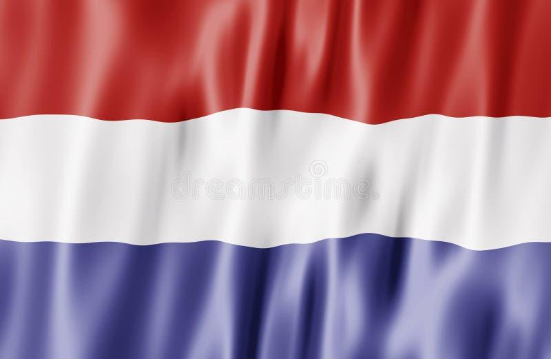i Paesi Bassi della bandierina illustrazione di stock