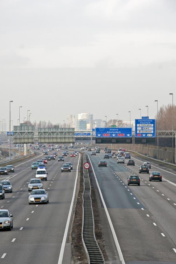 i Paesi Bassi famosi della strada principale a2 immagini stock