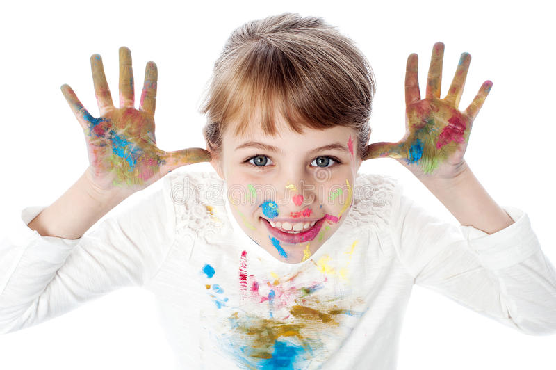 I am a painter ! stock images
