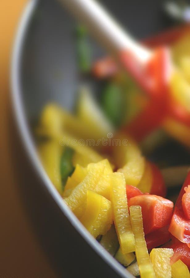 I peperoni si chiudono in su immagine stock libera da diritti