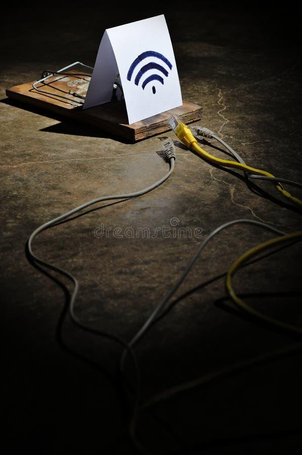 I pericoli di Wi-Fi libero immagine stock libera da diritti