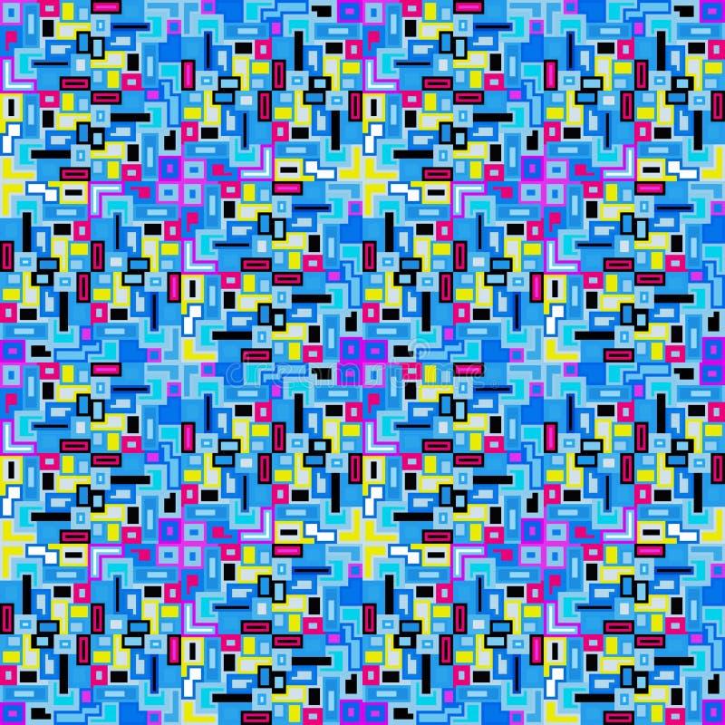 I piccoli pixel hanno colorato l'illustrazione senza cuciture di vettore del modello del fondo geometrico illustrazione vettoriale