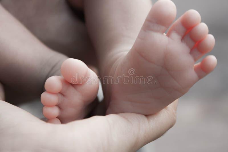 I piedi neonati del bambino fotografia stock