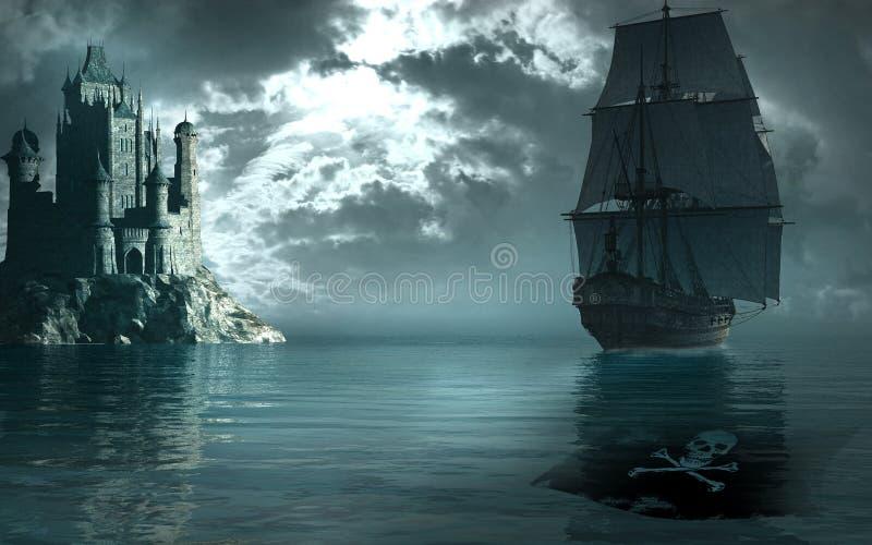 I pirati dei 04 caraibici illustrazione di stock