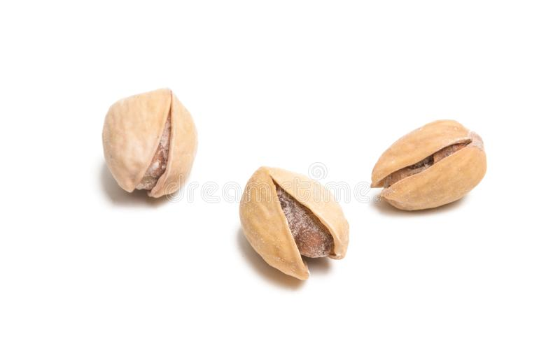 i pistacchi hanno isolato la o fotografia stock libera da diritti
