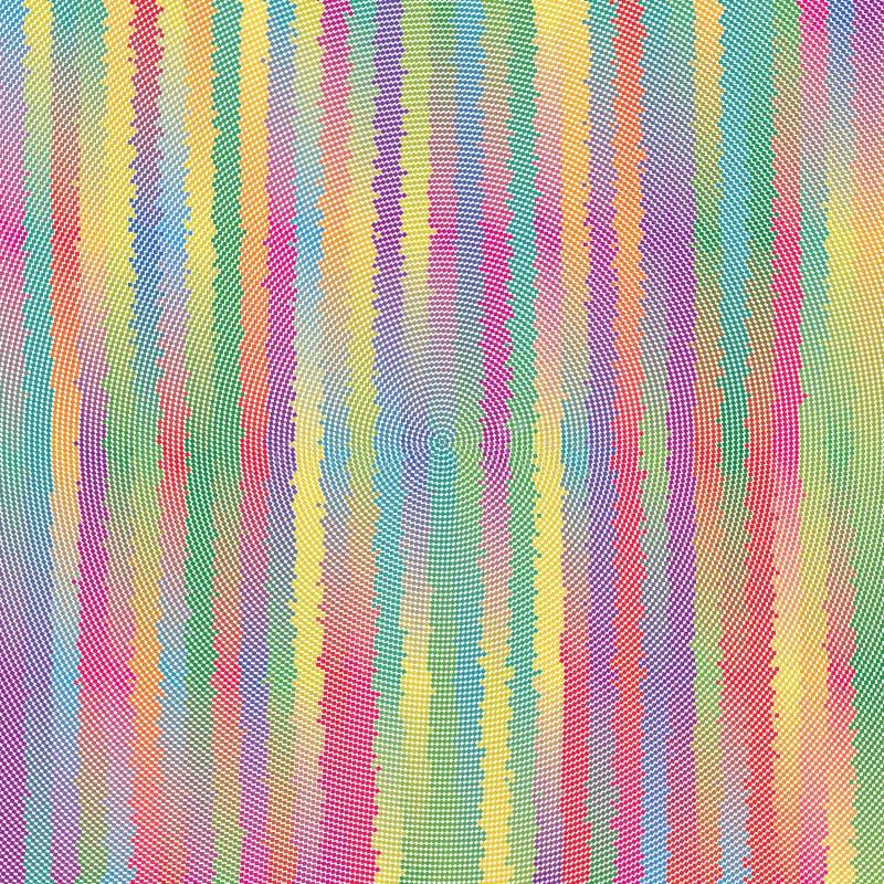 I pixel radiali dello sprazzo di sole barrano la struttura variopinta del modello del fondo di vettore illustrazione vettoriale