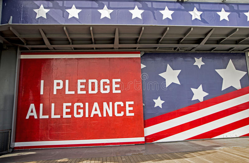 I Pledge Allegiance Military sign. I Pledge Allegiance sign with stars and stripes royalty free stock photos