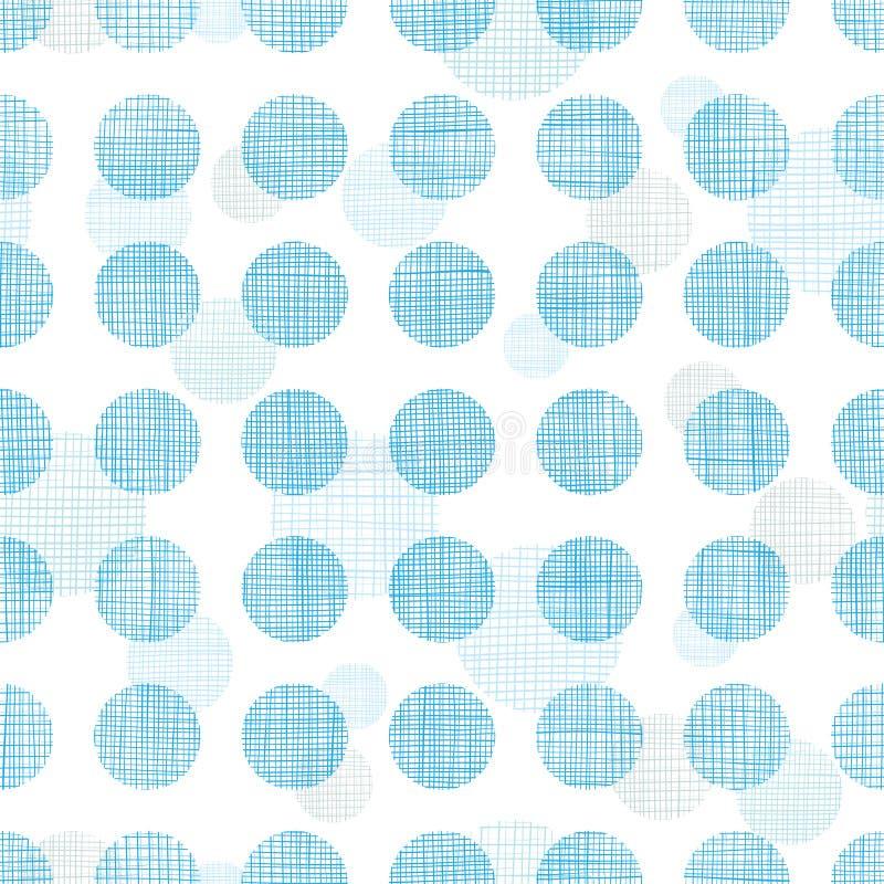 I pois blu del tessuto astratto barra il fondo senza cuciture del modello royalty illustrazione gratis