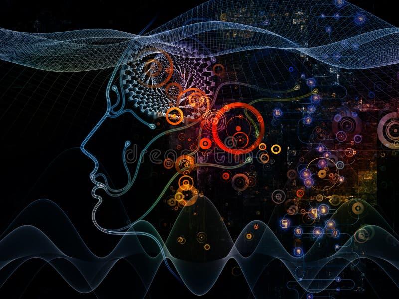 I ponti di coscienza a macchina illustrazione di stock