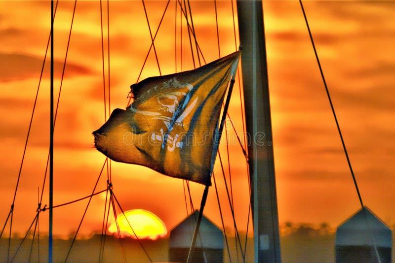 I porti di scalo per i pirati hanno offerto il porto sicuro per un breve periodo di tempo immagini stock