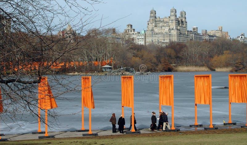 I portoni di Christo in New York fotografia stock