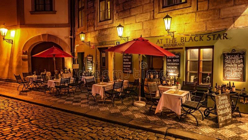 I Prague gator royaltyfria bilder