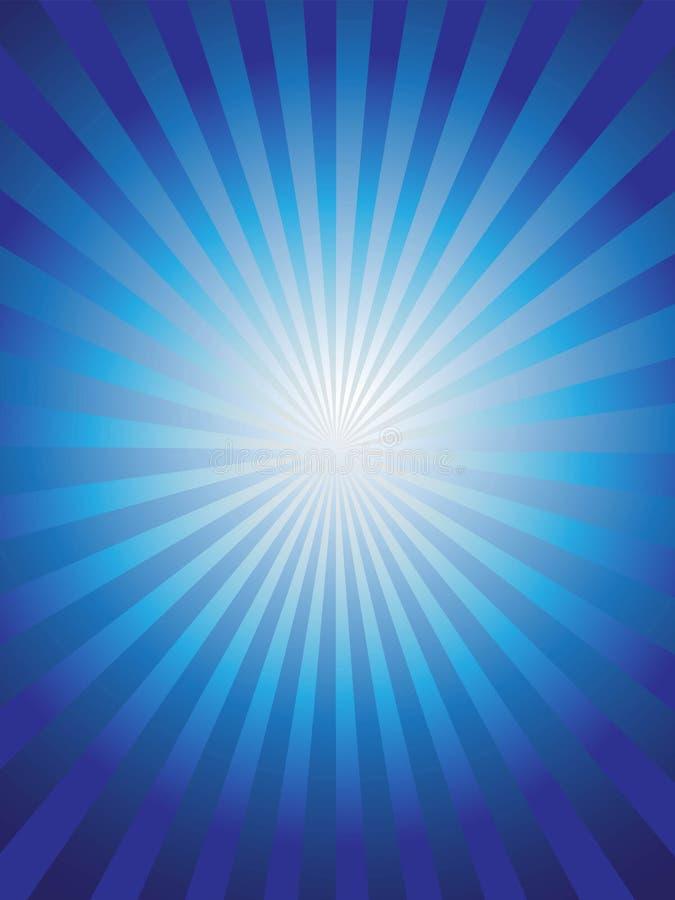 I precedenti blu brillanti del raggio del sole illustrazione vettoriale