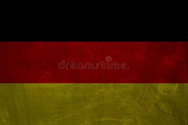 I precedenti della bandiera di Deutsch Bandiera quadrata d'annata della Germania immagine stock libera da diritti