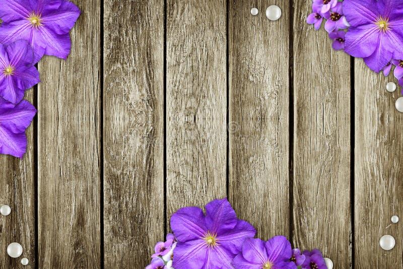 I precedenti di legno del grunge illustrazione di stock