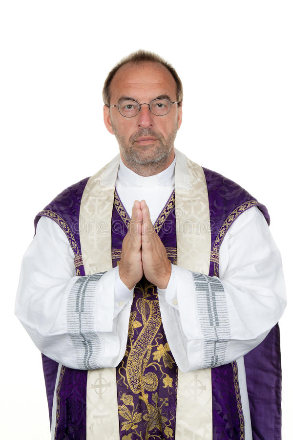I preti cattolici pregano immagine stock libera da diritti