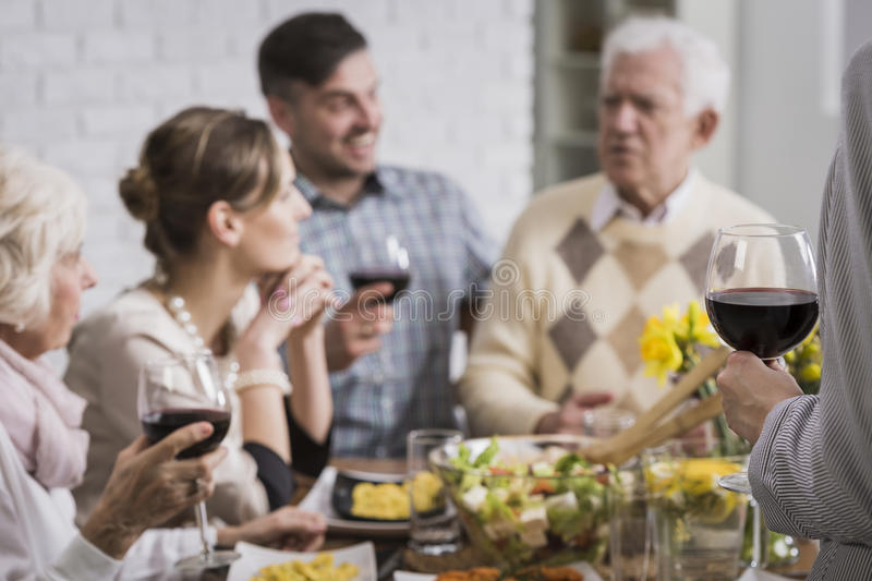 I Propose A Toast For Our Family Stock Photo Image Of Mother
