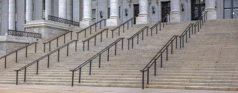 I punti anteriori della costruzione del Campidoglio dello stato dell'Utah fotografia stock libera da diritti