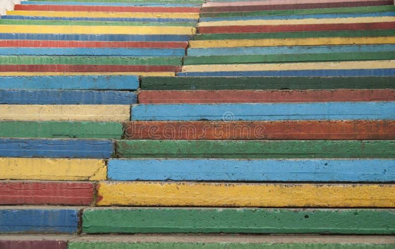 I punti dell'arcobaleno stanno andando su nel parl immagine stock libera da diritti