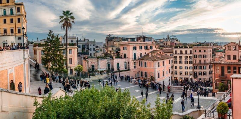I punti dello Spagnolo a Roma immagine stock