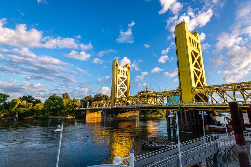 I punti di riferimento e le icone di Sacramento ad ovest fotografia stock libera da diritti