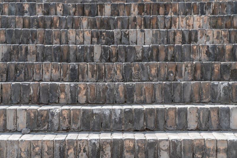 I punti hanno pavimentato con il mattone nero in Cina antica immagine stock