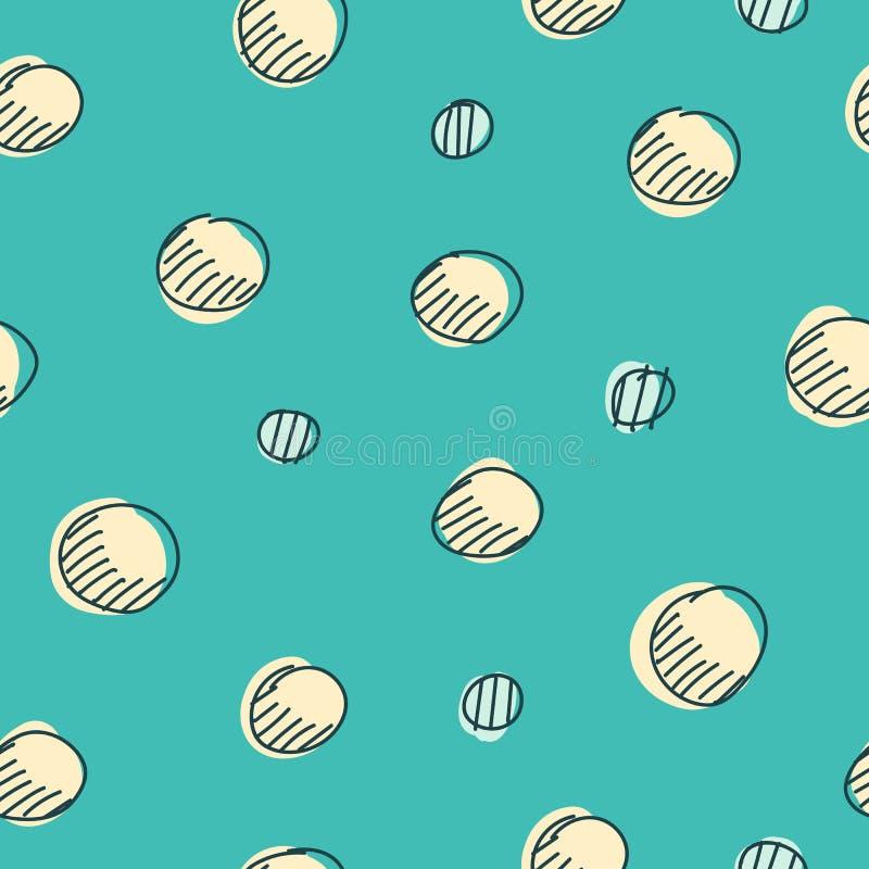 I punti sudici dell'inchiostro, colore crema cade su fondo blu-chiaro Illustrazione di vettore illustrazione di stock