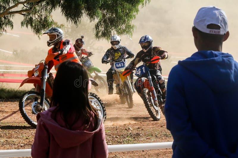 i quarti motocross della corsa frugano la Grecia del sud immagine stock libera da diritti