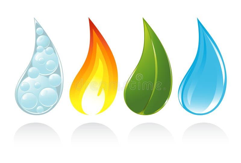 I quattro elementi di vita illustrazione di stock