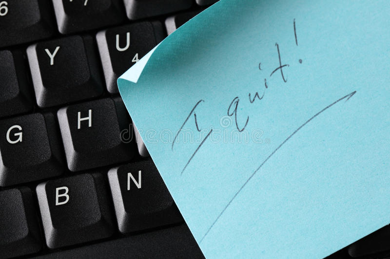 Download I Quit stock photo. Image of paper, message, buttons - 13002872