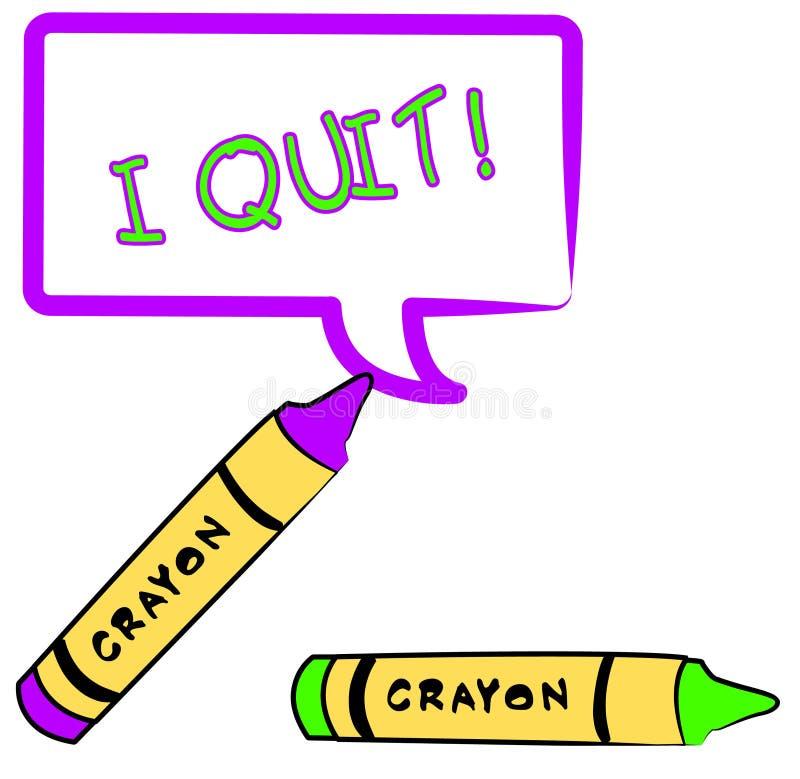 Download I quit stock vector. Illustration of office, bulletin - 4389507