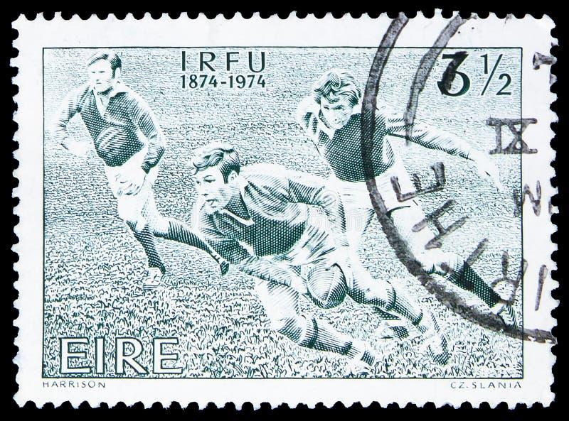 I r f U 1874-1974, Jahrhundert irischen Rugby-Verband serie, circa 1974 lizenzfreie stockfotos