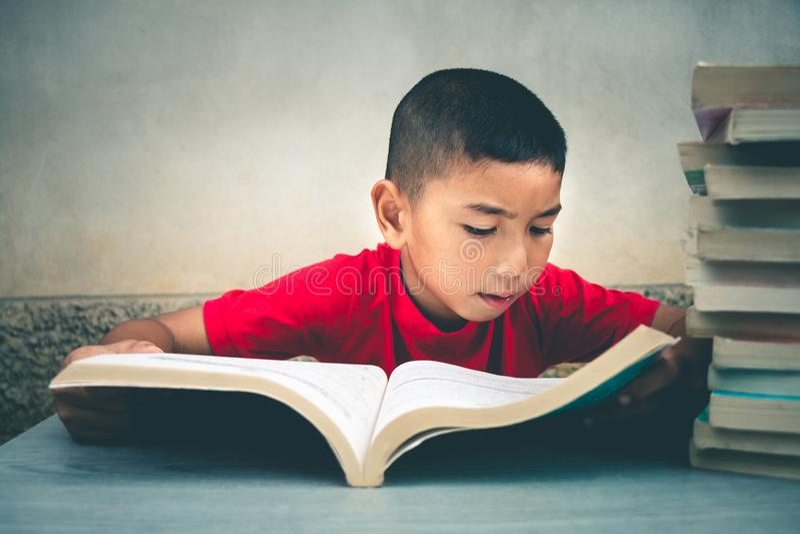 I ragazzi stanno andando leggere i libri per acquisire più conoscenza fotografia stock libera da diritti