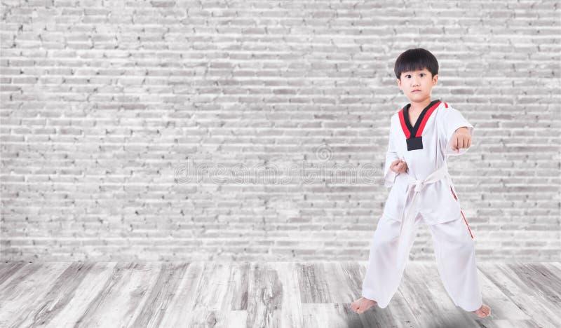 I ragazzi stanno praticando il judo immagine stock