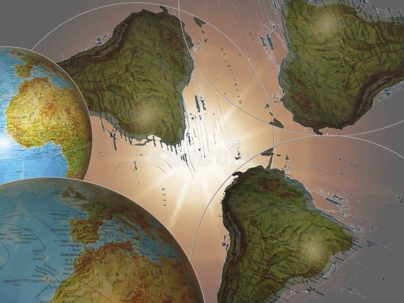 I raggi cosmici illustrazione vettoriale