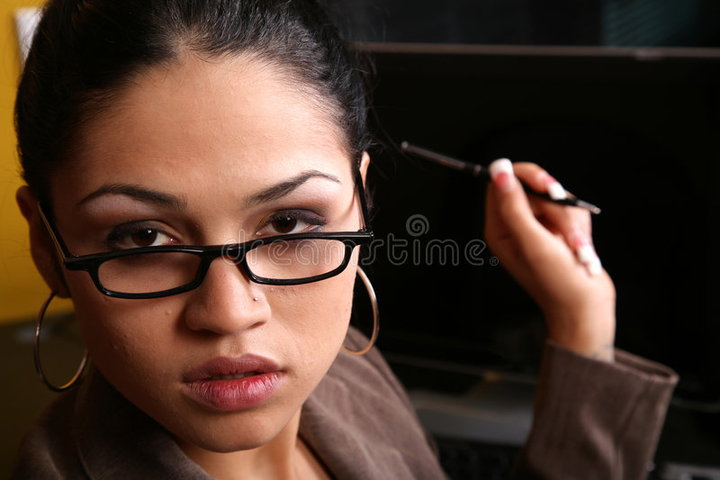 I receptionist Bossy immagini stock