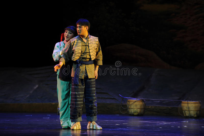 I rely on you- Jiangxi opera a steelyard. Jiangxi opera a steelyard is adapted from a true story: the last century fortys, the protagonists father runs an oil stock image