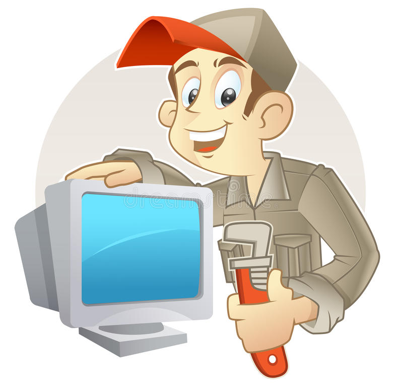 I repair your PC stock illustration