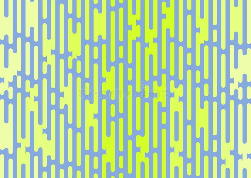 I rettangoli arrotondati estratto di vettore hanno protetto il fondo verde blu fotografia stock