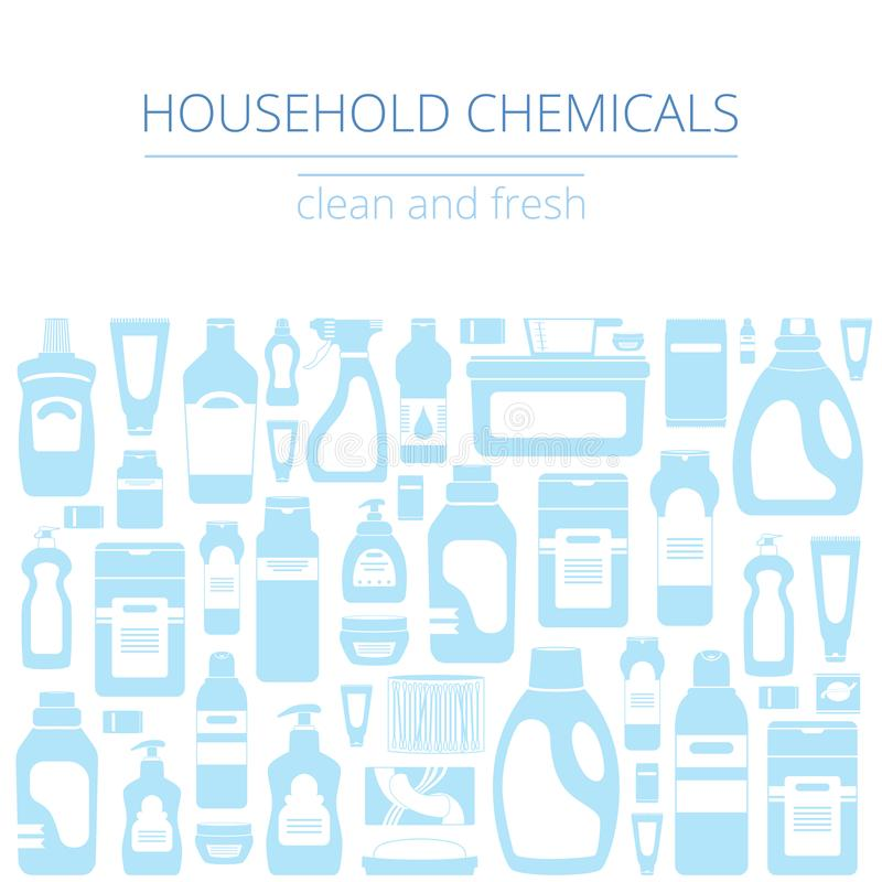 I rifornimenti di pulizia della famiglia hanno isolato l'insieme delle icone Concetto grafico per i siti Web, insegna, apps mobil royalty illustrazione gratis