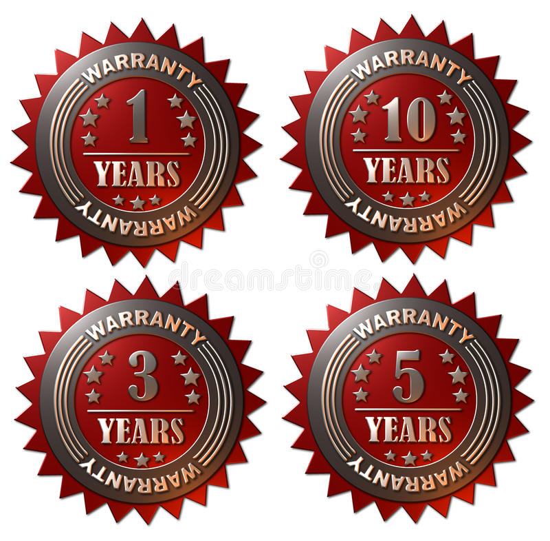 1, 3, 5 i 10 roku gwarancja, ilustracji