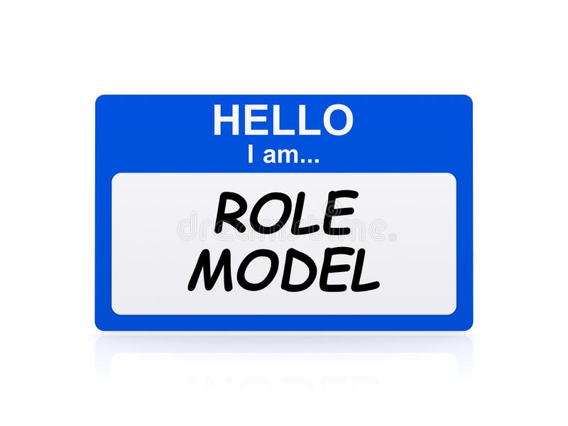 I am role model tag. On white background royalty free illustration