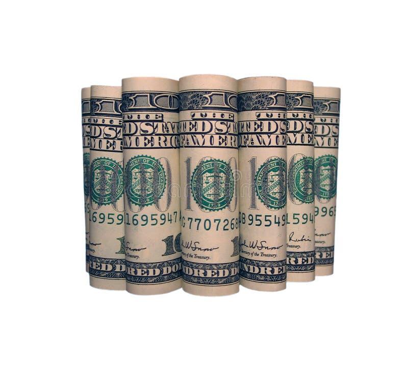 i rulli dei 7 dollari fotografia stock libera da diritti