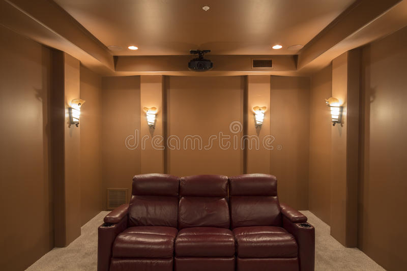 I rum för hem- teater royaltyfri fotografi