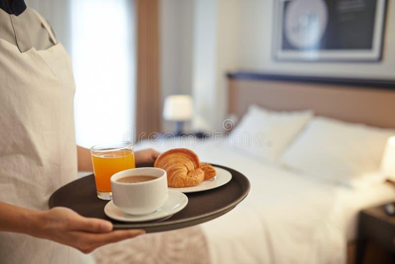 I-rum frukost arkivfoto