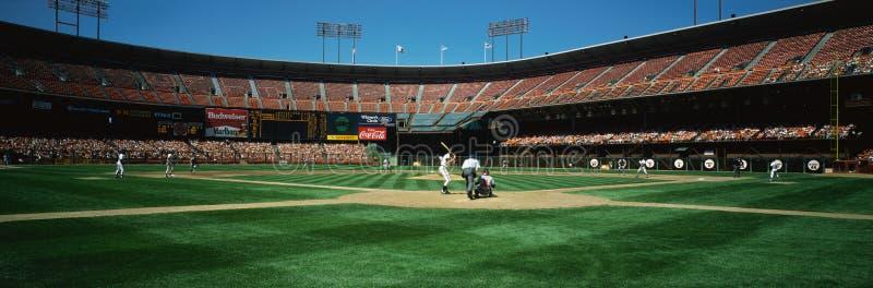 I San Francisco Giants che giocano sullo stadio 3Com immagine stock libera da diritti