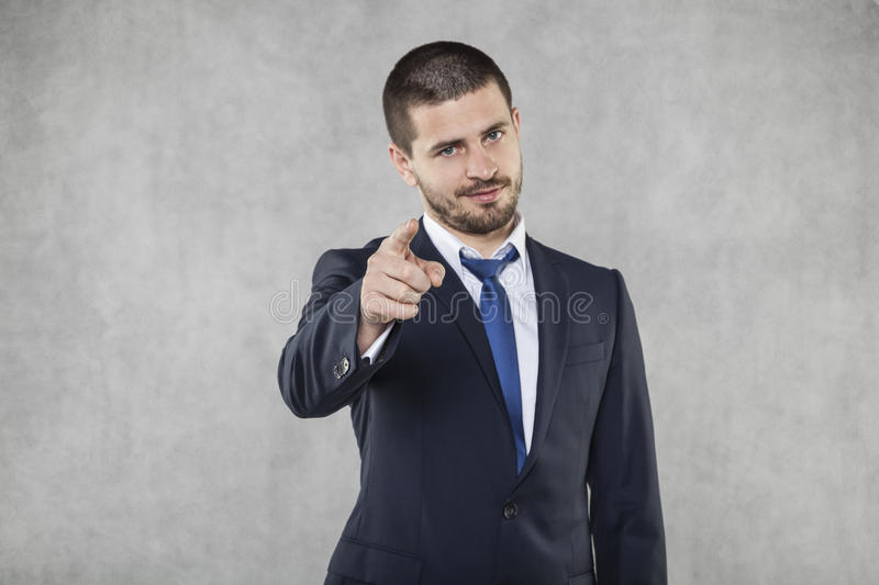 I see you, business man pointing stock image