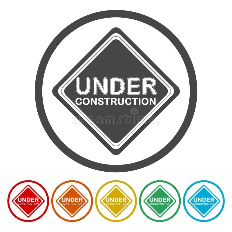 I segni in costruzione hanno impostato illustrazione di stock