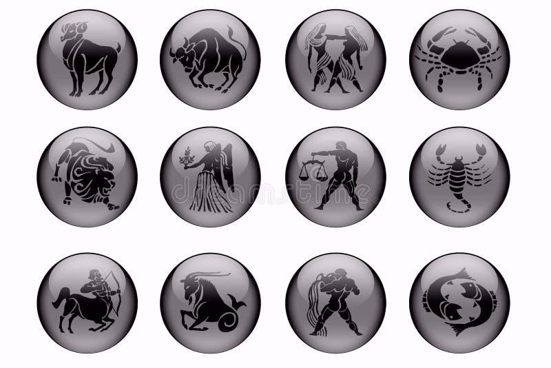 i segni dello zodiaco royalty illustrazione gratis