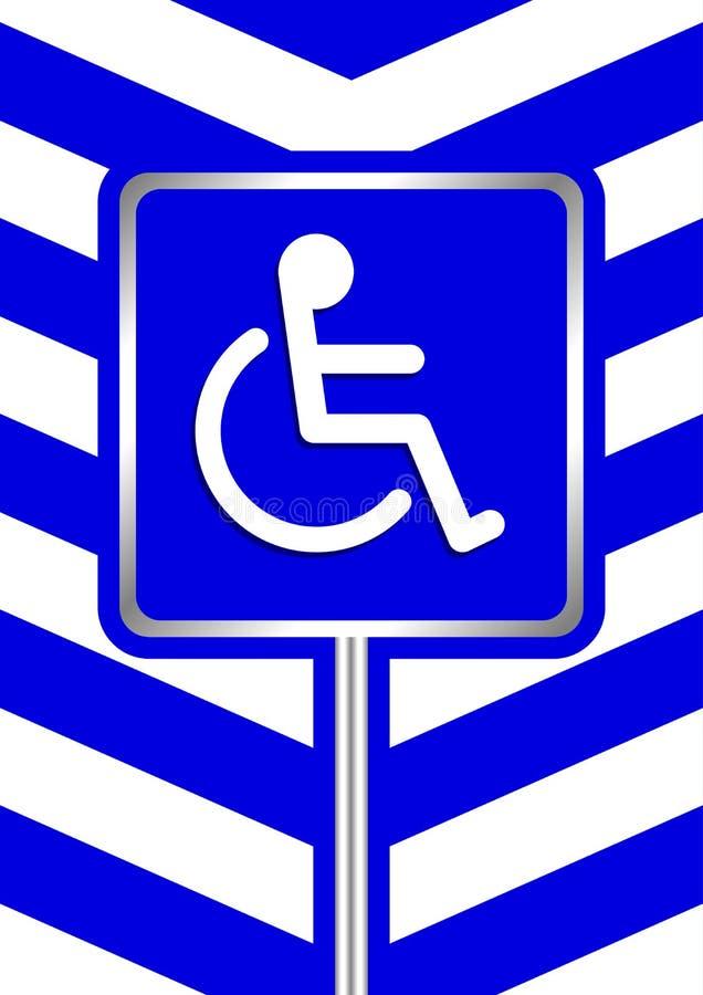I segni disattivati sulla banda blu della struttura colora il fondo, bordi del segno del distintivo del segno di modo della scala royalty illustrazione gratis
